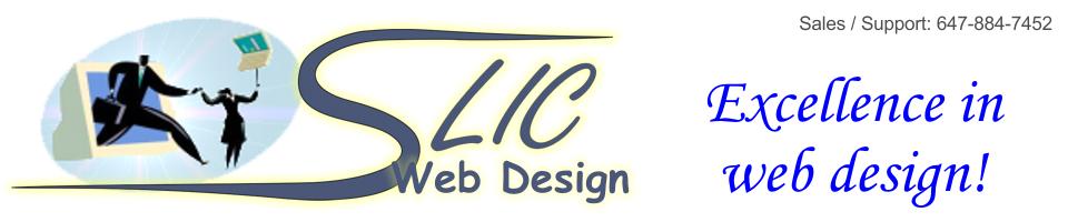 SLIC Web Design banner